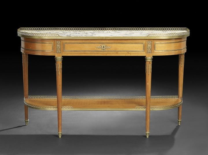 401: Louis XVI-Style Mahogany and Marble-Top Server