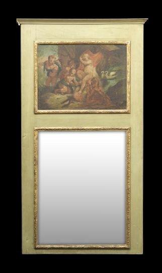 404: Louis XVI-Style Polychrome Trumeau