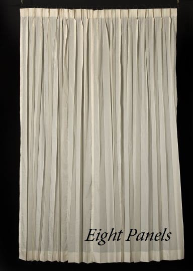 408: Suite of Eight Scalamandre Ivory Silk Panels