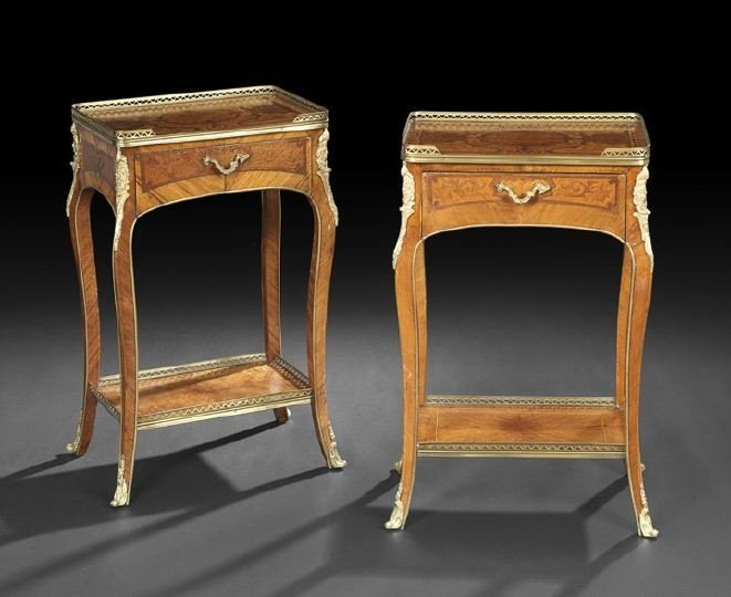 409: Pair of Louis XV-Style Occasional Tables