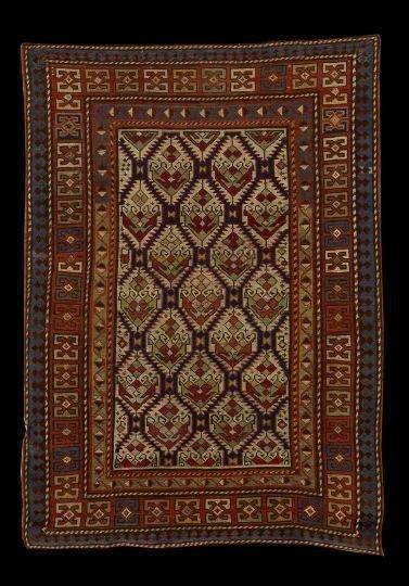531: Antique Caucasian Seichour Carpet
