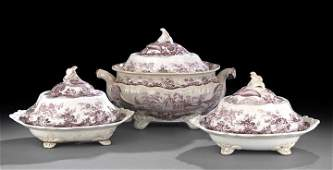 597: Staffordshire Soup Tureen and Vegetable Dishes