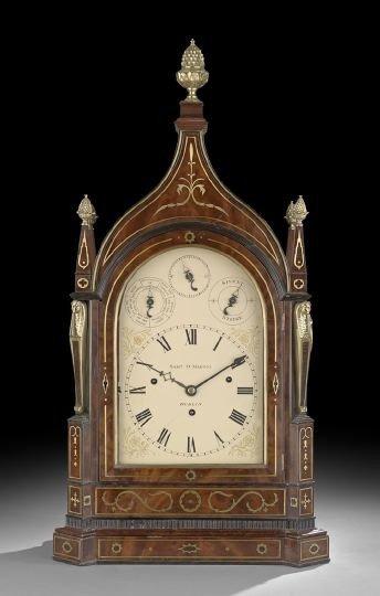 826: Impressive Musical Irish Regency Bracket Clock