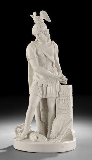 1573: English Parian Porcelain Figure of a Warrior