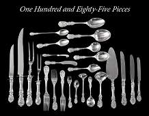 1704 185 Pieces of Reed  Barton Francis I Flatware