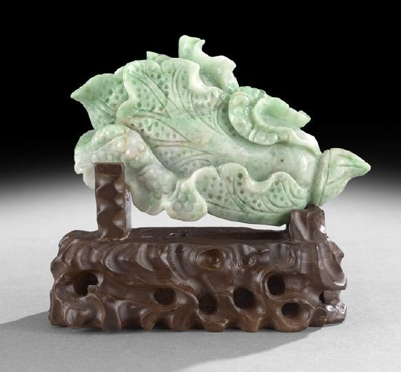 4: Chinese Carved Jade Model of a Bok Choy