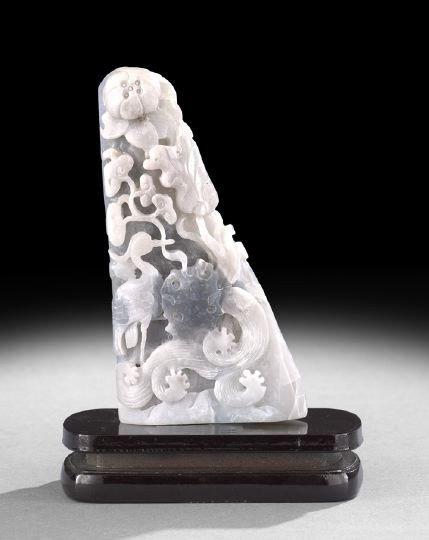8: Chinese Carved Jade Triangular Pylon