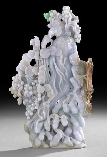 10: Chinese Carved Jade Fruit Group