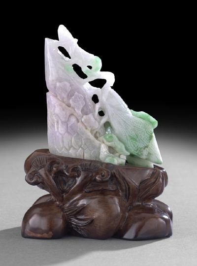 11: Chinese Carved Jade Insect Group