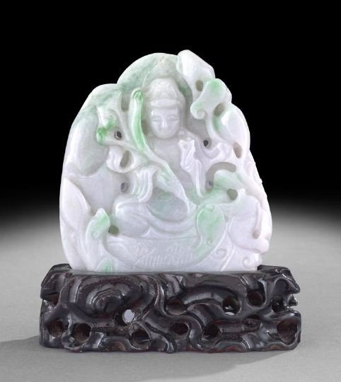 14: Chinese Carved Jade Buddhistic Scene