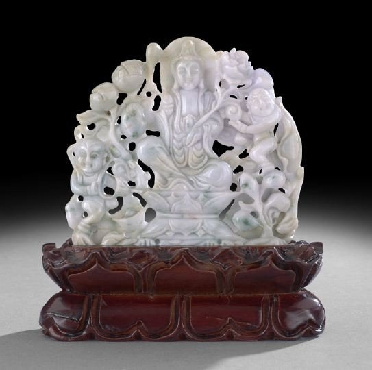 21: Chinese Carved Jade Buddhistic Group