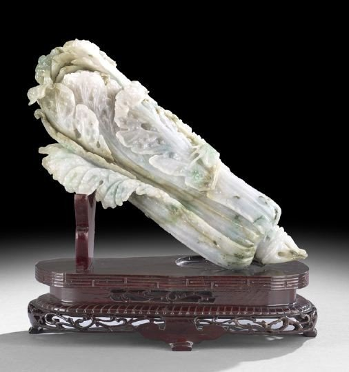24: Chinese Carved Jade Model of a Bok Choy