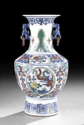 Chinese Five-Color Porcelain Vase