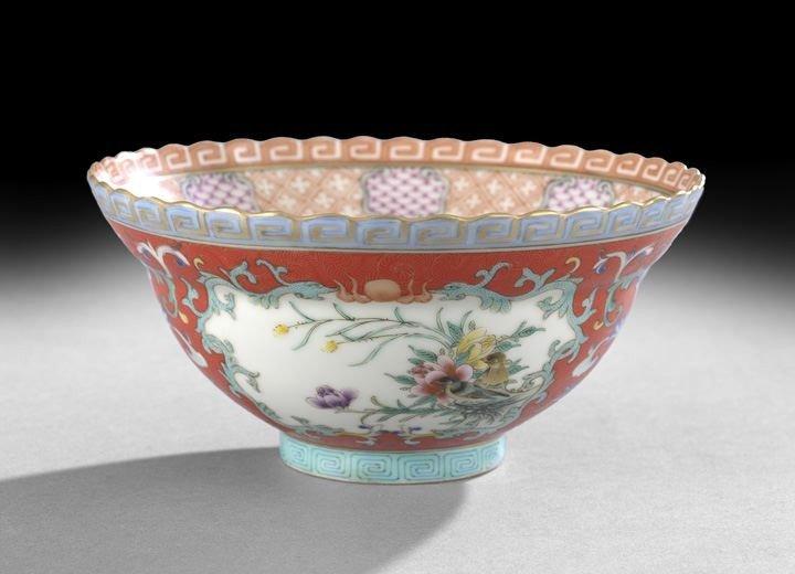 218: Elaborate Chinese Famille Rose Porcelain Bowl