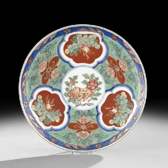 529: Japanese Imari Circular Footed Plate