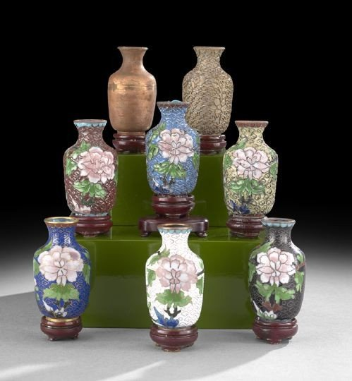 1048: Chinese Cloisonne Vases
