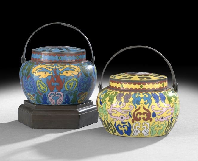 1064: Two Chinese Cloisonne Incense Burners