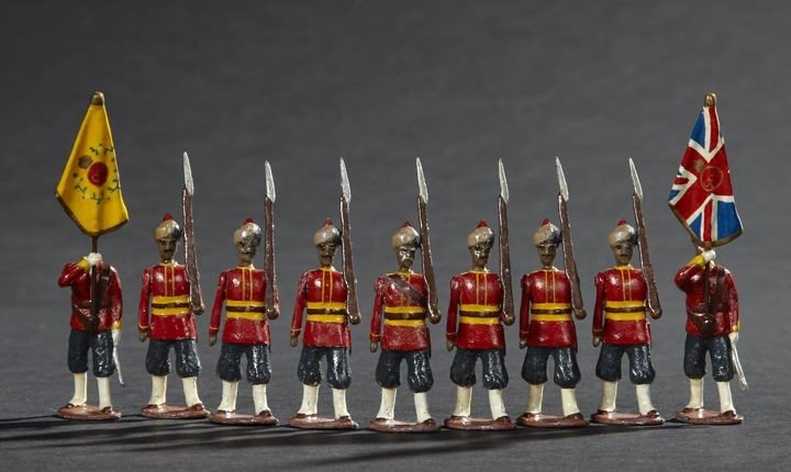 1689: 116th Rajput Infantry & Colour Party Toy Soldiers