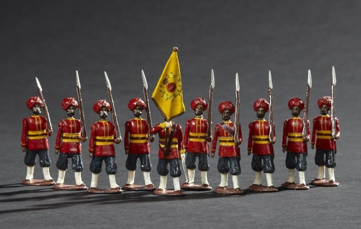 1691: 36th Sikh Infantry Vintage Lead Toy Soldiers