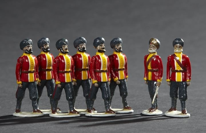 1692: Sikh Infantry Vintage Lead Toy Soldiers