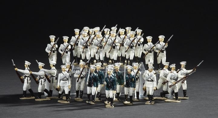 1705: Thirty-Five Russian Infantry Lead Toy Soldiers