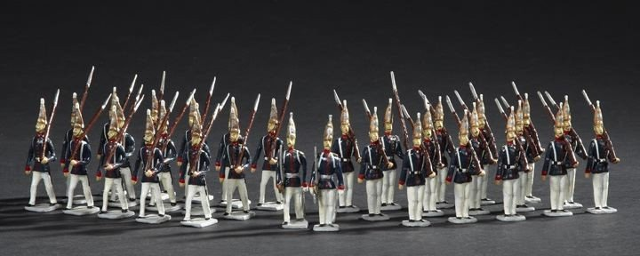 1707: 32 Prussian Guard Grenadiers Lead Toy Soldiers