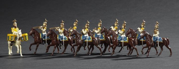 1708: 10 Russian Guard Cuirassiers Toy Soldiers