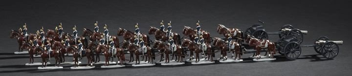 1710: Thirty-Four Piece W. Britains Prussian Artillery