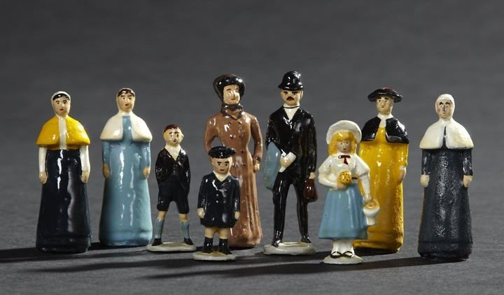 1712: Nine Piece Group of W. Britains Lead Toy Figures