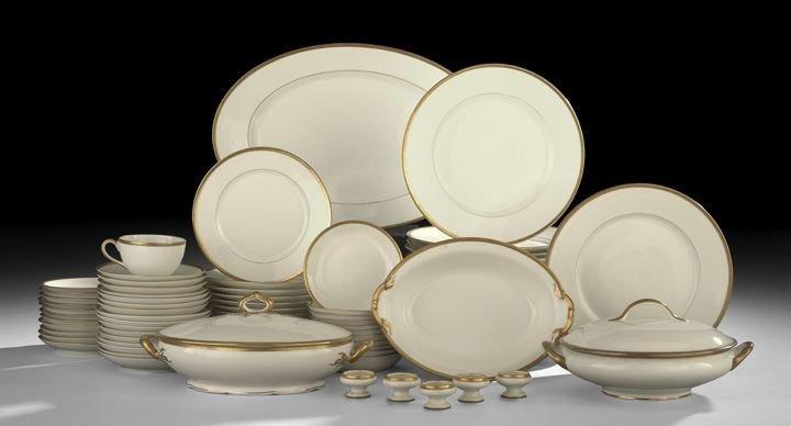 4: Old Limoges Partial Dinner Service