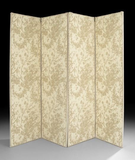 11: Pair of Fabric-Covered Two-Panel Screens