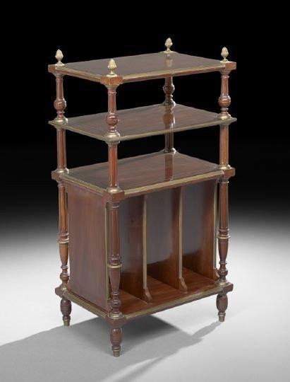 13: Louis XVI-Style Mahogany Etagere/Canterbury