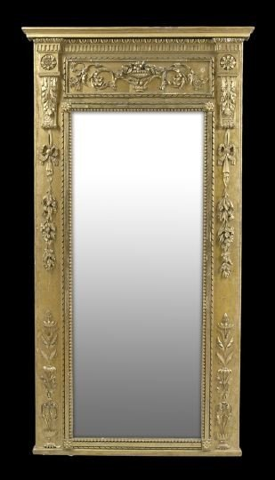 19: Louis XVI-Style Giltwood Looking Glass