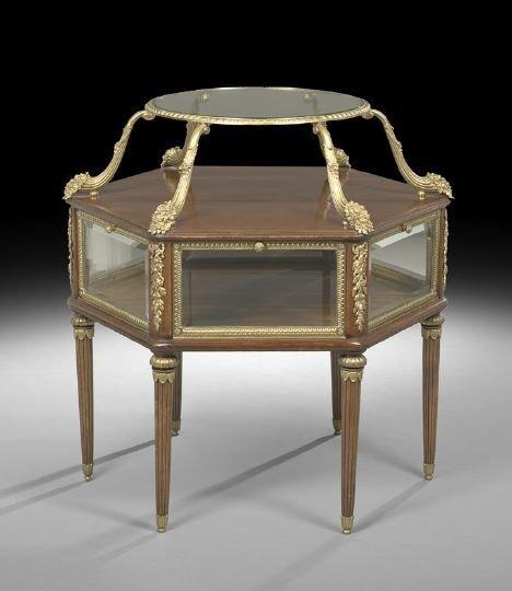 22: Louis XVI-Style Mahogany Tiered Center Table