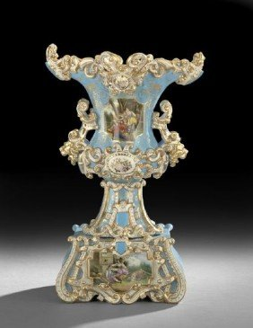 Impressive Jacob Petit-Style Garniture Vase