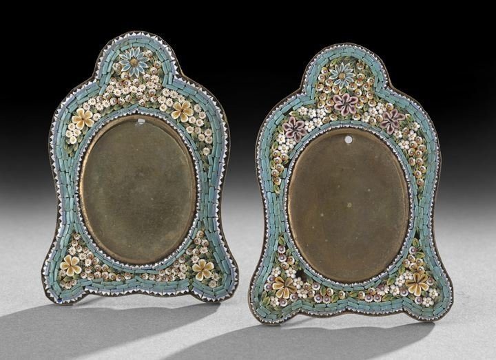 52: Pair of Continental Micro-Mosaic Picture Frames