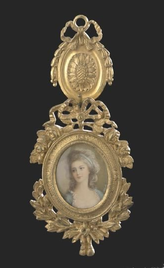 53: Miniature Portrait on Ivory of a Lady