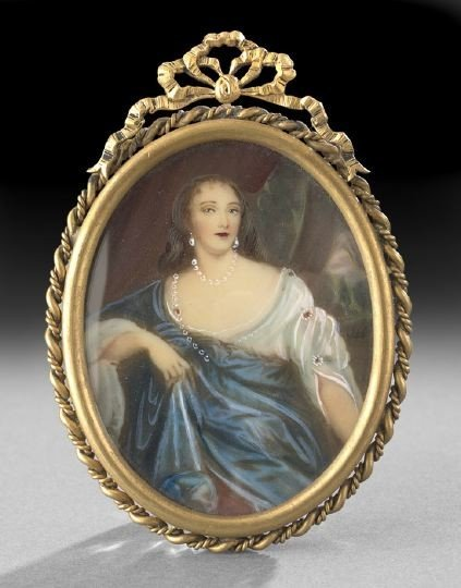 54: Continental Portrait Miniature on Ivory of a Lady