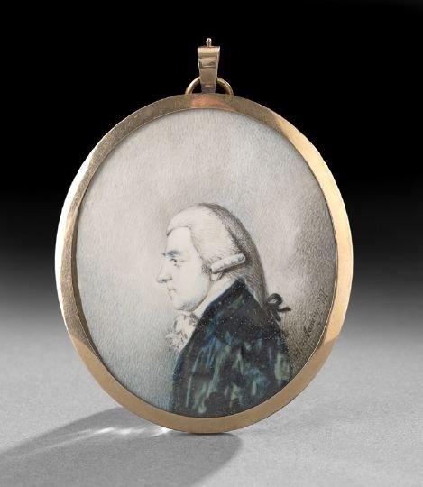 55: Miniature Portrait on Ivory of a Gentleman