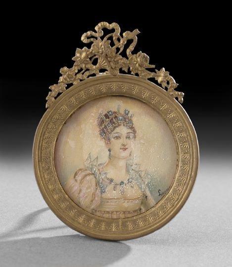58: Continental Portrait Miniature of a Lady