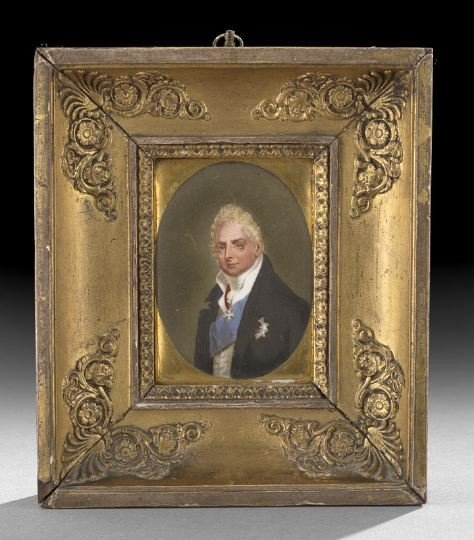 59: Porcelain Portrait Plaque of Charles X
