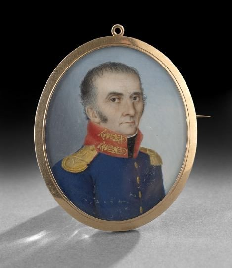 60: French School Locket Portrait Miniature