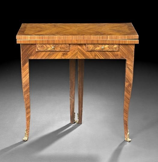63: Louis XV-Style Kingwood Games Table