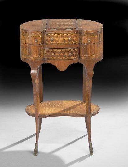 64: Louis XV-Style Kingwood Work Table