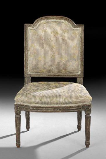 686: Louis XVI Polychrome Beechwood Sidechair