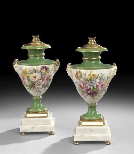 687: Pair of Regency Garniture Vases