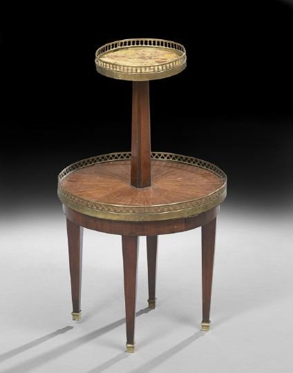 690: Louis XVI-Style Marble-Top Occasional Table