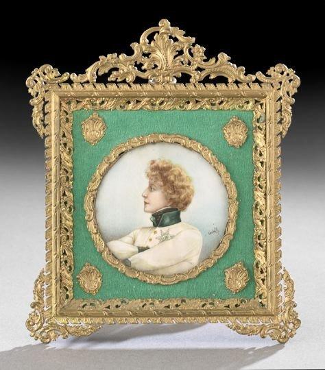 691: European Portrait Miniature of a Woman