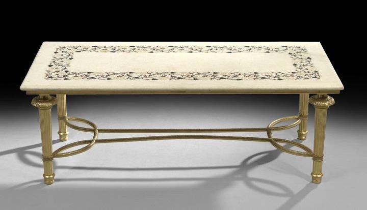 696: Louis XVI-Style Onyx and Ormolu Cocktail Table