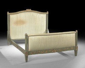 Louis XVI-Style Polychrome Bed